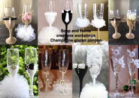 Champagne glazen pimpen