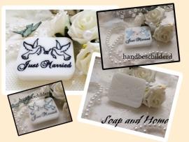 Just Married zeepbedankje/geschenk (per 10 stuks)