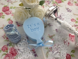 Baby Boy tekst ballon (per10stuks)