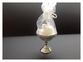 Bruidstaartje in coupe met tule (per 10 stuks) goud