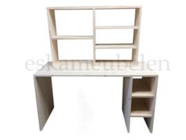 Bureau met bijpassende vakkenkast/boekenkast