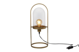 Tafellamp rond stolp Goud