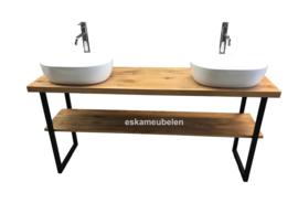 Badkamermeubel 'Levi' met U-poten en onderblad