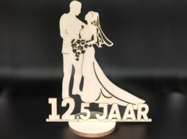 Bruidspaar '12,5 jaar' op voet