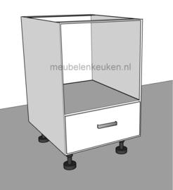 Onderkast t.b.v. combi-magnetron 450 mm en 1 korflade