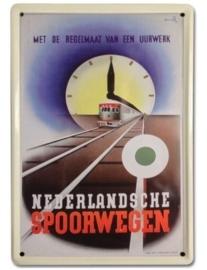 Nederlandsche Spoorwegen 20 x 30 cm