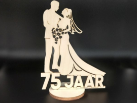 Bruidspaar '75 jaar' op voet