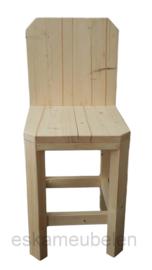 Kinderstoel extra hoog met opstapje