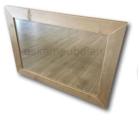 Spiegel met geborstelde steigerhouten lijst