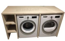 Wasmachine ombouw tweevoudig met plankjes