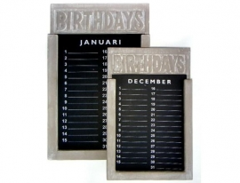 Kalender smal 28cm Taupe of White
