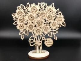 Bloemen op voetstuk 'Voor de liefste mama'