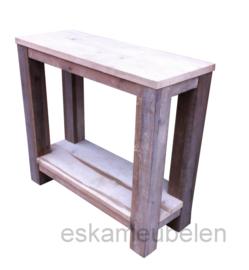 Sidetable van gebruikt steigerhout