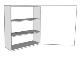 Bovenkast met volle deur en 2 verstelbare legplank