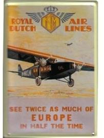Royal Dutch Air Lines 20 x 30 cm