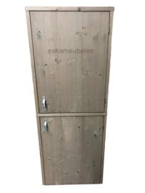 Wasmachine ombouw op elkaar met deurtjes