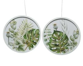 Wanddecoratie Botanisch (diameter 40 cm)