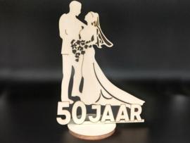 Bruidspaar '50 jaar' op voet