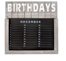 Verjaardags kalender 30cm Taupe