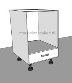 Onderkast t.b.v. oven 595 mm en 1 lade