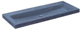Wastafel Compact Stone Hardsteen 100x38x5cm Zonder Kraangat