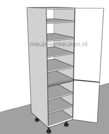 Voorraadkast voorzien van 6 verstelbare legplanken en 1 vaste GREEPLOOS