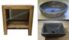 Badkamermeubel van steigerhout