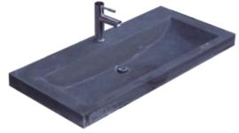Wastafel Compact Stone Hardsteen 80x38x5cm met 1 Kraangat