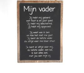 Tekstbord 'Mijn vader'