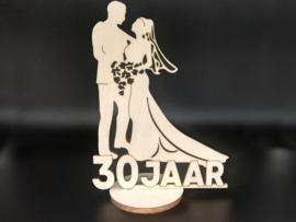 Bruidspaar '30 jaar' op voet