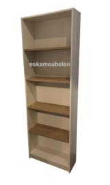 Boekenkast 'Meghan' Eikenhout/Wit