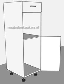 Inbouwkast t.b.v. koelkast 1025 mm en oven 595 mm