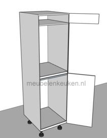 Inbouwkast t.b.v. koelkast 1025 mm en oven 59,5 mm GREEPLOOS