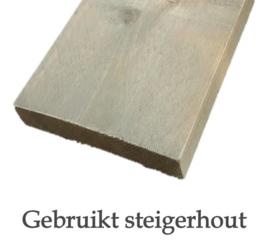 Gebruikt steigerhout (geschuurd)