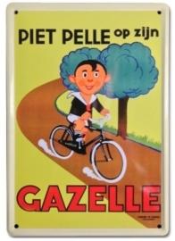 Piet Pelle op zijn Gazelle 20 x 30 cm