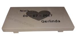 Dienblad met tekst van steigerhout in alle soorten verkrijgbaar