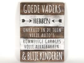 Tekstbord 'Goede Vaders'