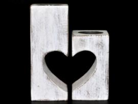 Waxinehouder hart set