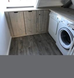 Wasmachine ombouw Steigerhout