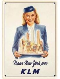 KLM New York 20 x 30 cm