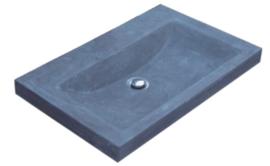 Wastafel Compact Stone Hardsteen 60x38x5cm Zonder Kraangat