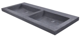 Wastafel Trend Stone Dubbel 120x47x5 cm Zonder Kraangaten