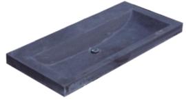 Wastafel Compact Stone Hardsteen 80x38x5cm Zonder Kraangat