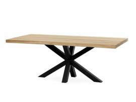 Massief eikenhouten (eet) tafel met Matrix poot/onderstel