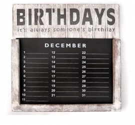 Verjaardags kalender 30cm Antique White