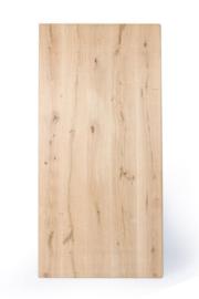 Massief rustiek recht eiken tafelblad 4 cm dik, geschuurd