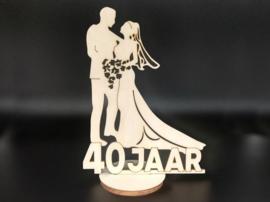 Bruidspaar '40 jaar' op voet