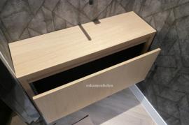 Badkamermeubel / Toiletmeubel 'Troy' van eikenhout met 1 lade (greeploos)