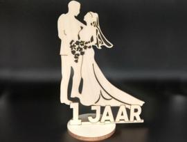 Bruidspaar '1 jaar' op voet