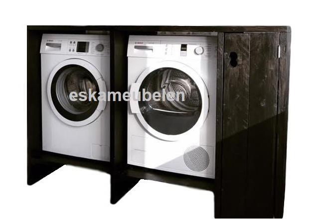 wasmachine ombouw met verhoging en deurtje